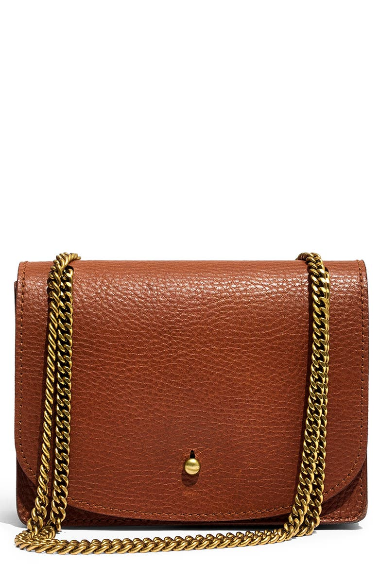 MADEWELL Leather Crossbody Wallet, Main, color, ENGLISH SADDLE