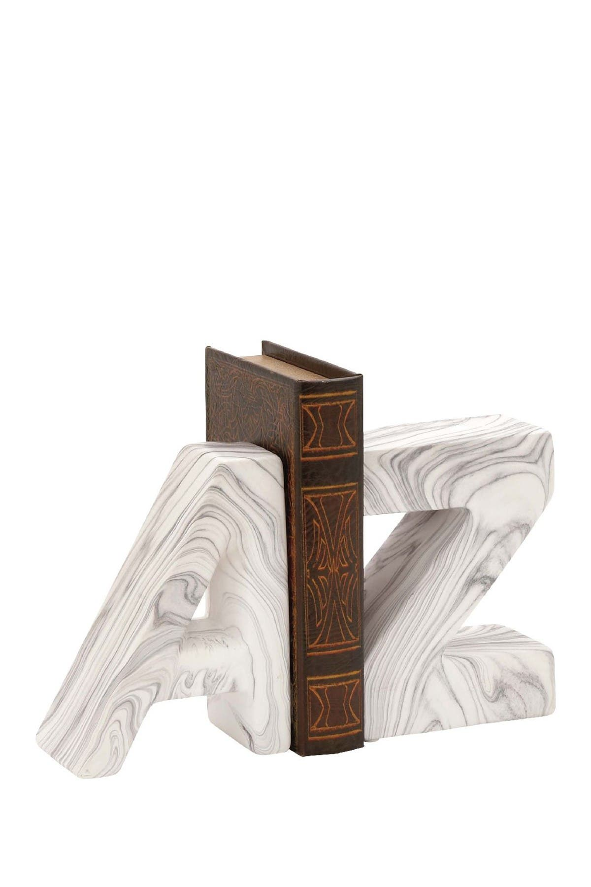 Image of CosmoLiving by Cosmopolitan White/Gray Contemporary Bookend - Set of 2