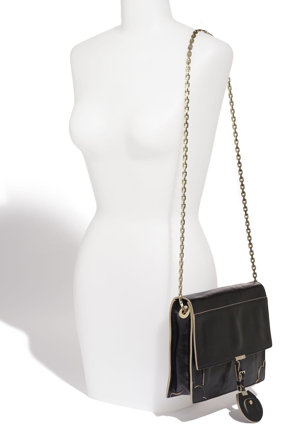 ,                             Jason Wu 'Jourdan' Calfskin Leather Shoulder Bag,                             Alternate thumbnail 4, color,                             001