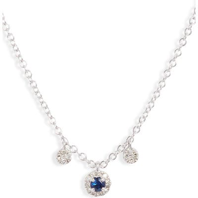 Meira T Blue Sapphire & Diamond Shaker Necklace