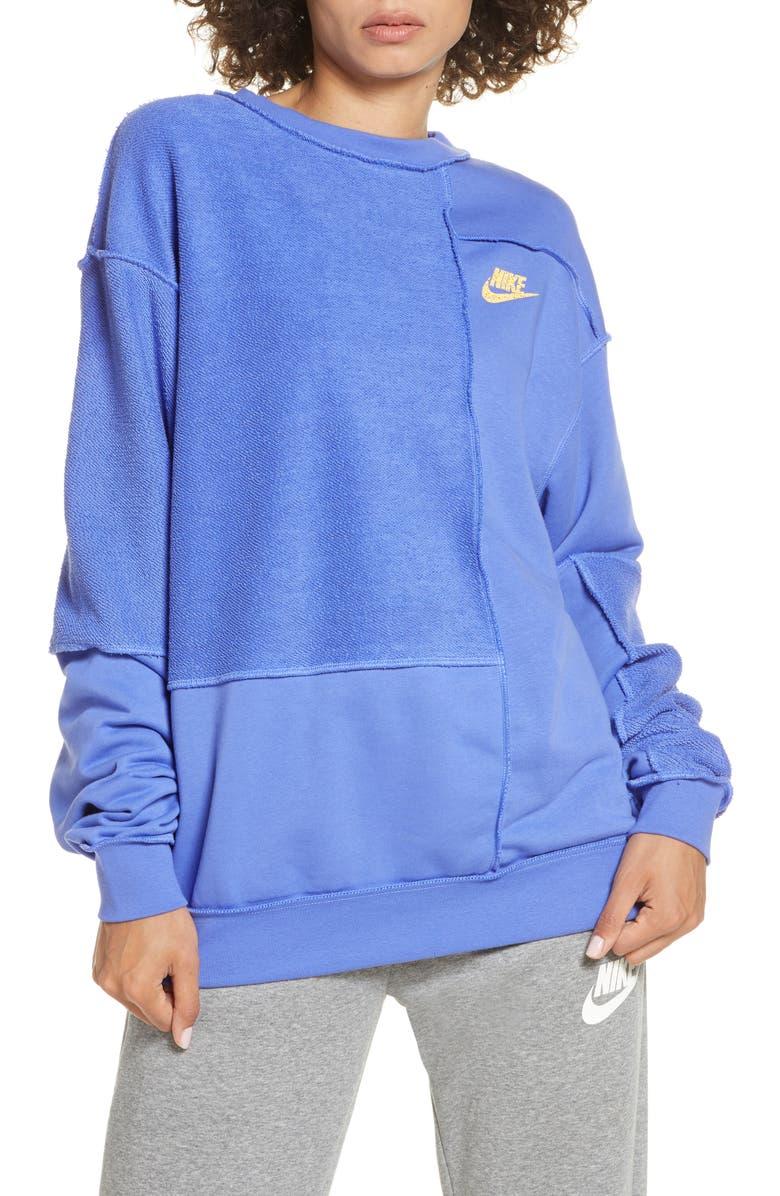 NIKE Icon Clash Crewneck Sweatshirt, Main, color, SAPPHIRE