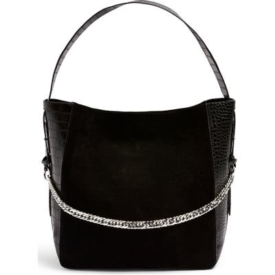 Topshop Laurie Hobo Bag - Black