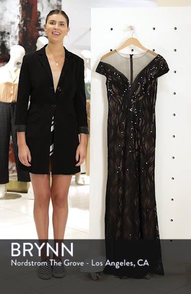 Lucilia Illusion Sequin Gown, sales video thumbnail