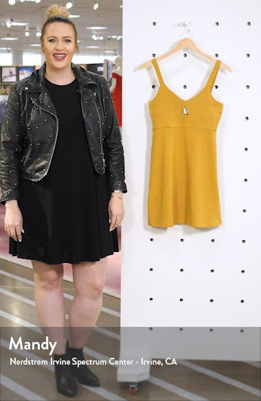 All Talk Keyhole Minidress, sales video thumbnail