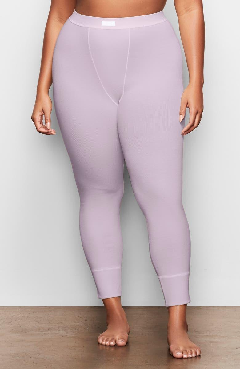 SKIMS Cotton Rib Thermal Leggings, Main, color, IRIS MICA