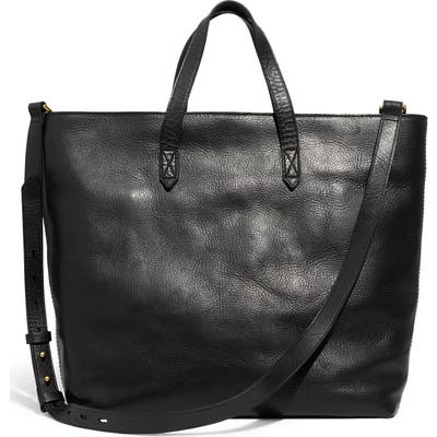 Madewell Zip Top Transport Leather Carryall - Black