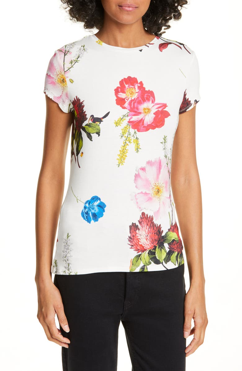 TED BAKER LONDON Dililah Floral Tee, Main, color, 110
