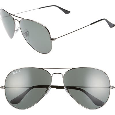 Ray-Ban Original 62Mm Oversize Polarized Aviator Sunglasses -