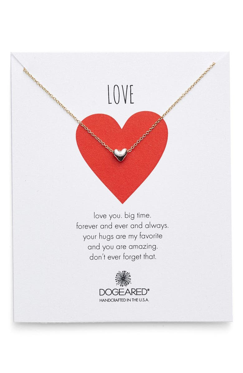 DOGEARED 'Chain Heart' Pendant Necklace, Main, color, 040