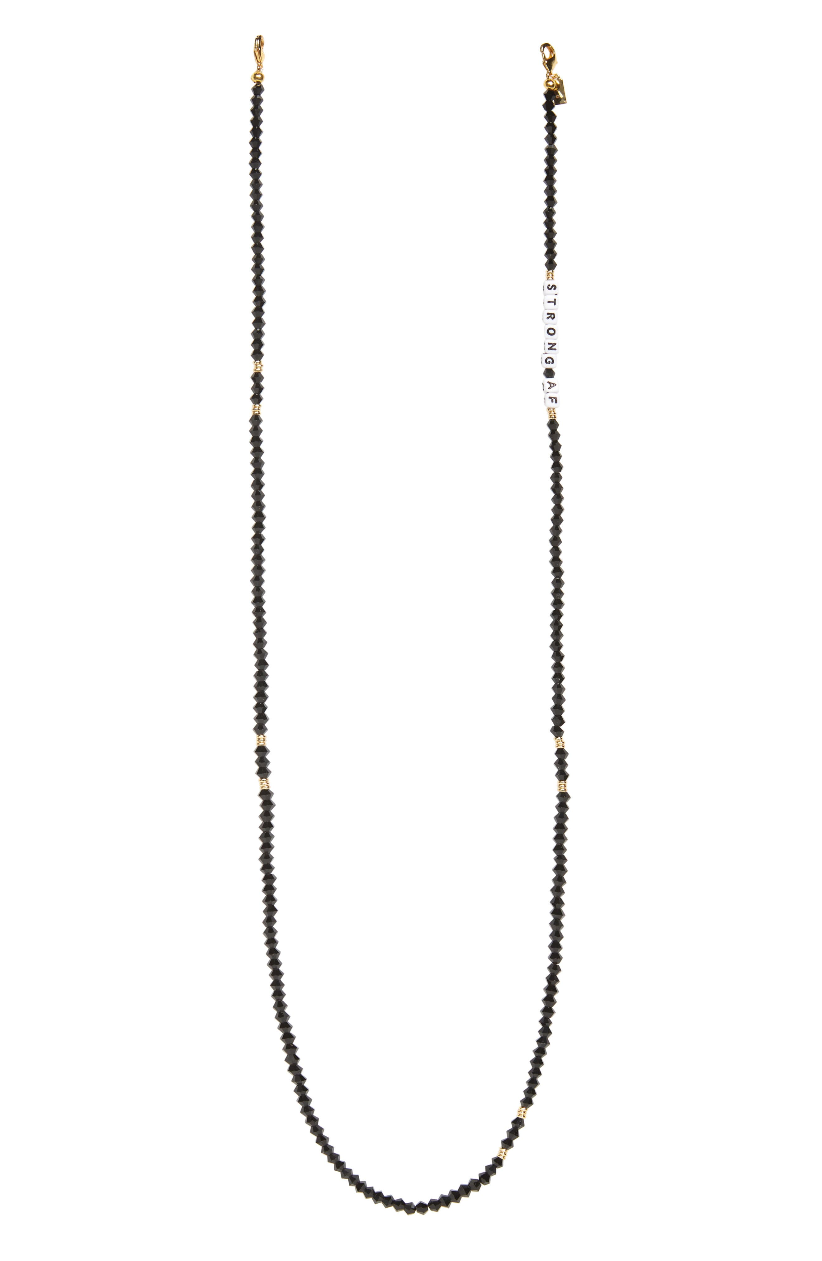 Strong Af Beaded Face Mask Chain
