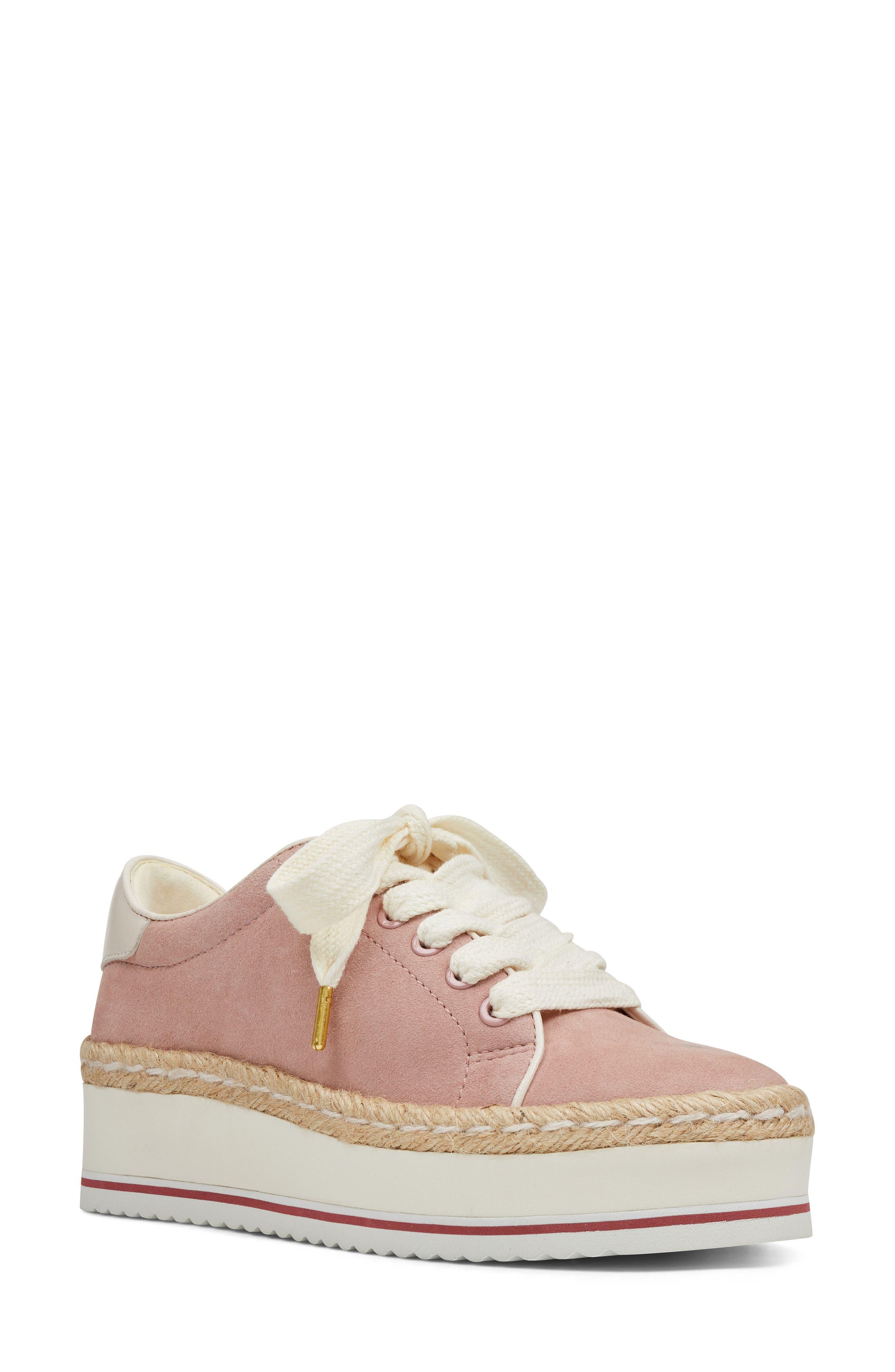 Nine West Evie Espadrille Platform Sneaker, Pink