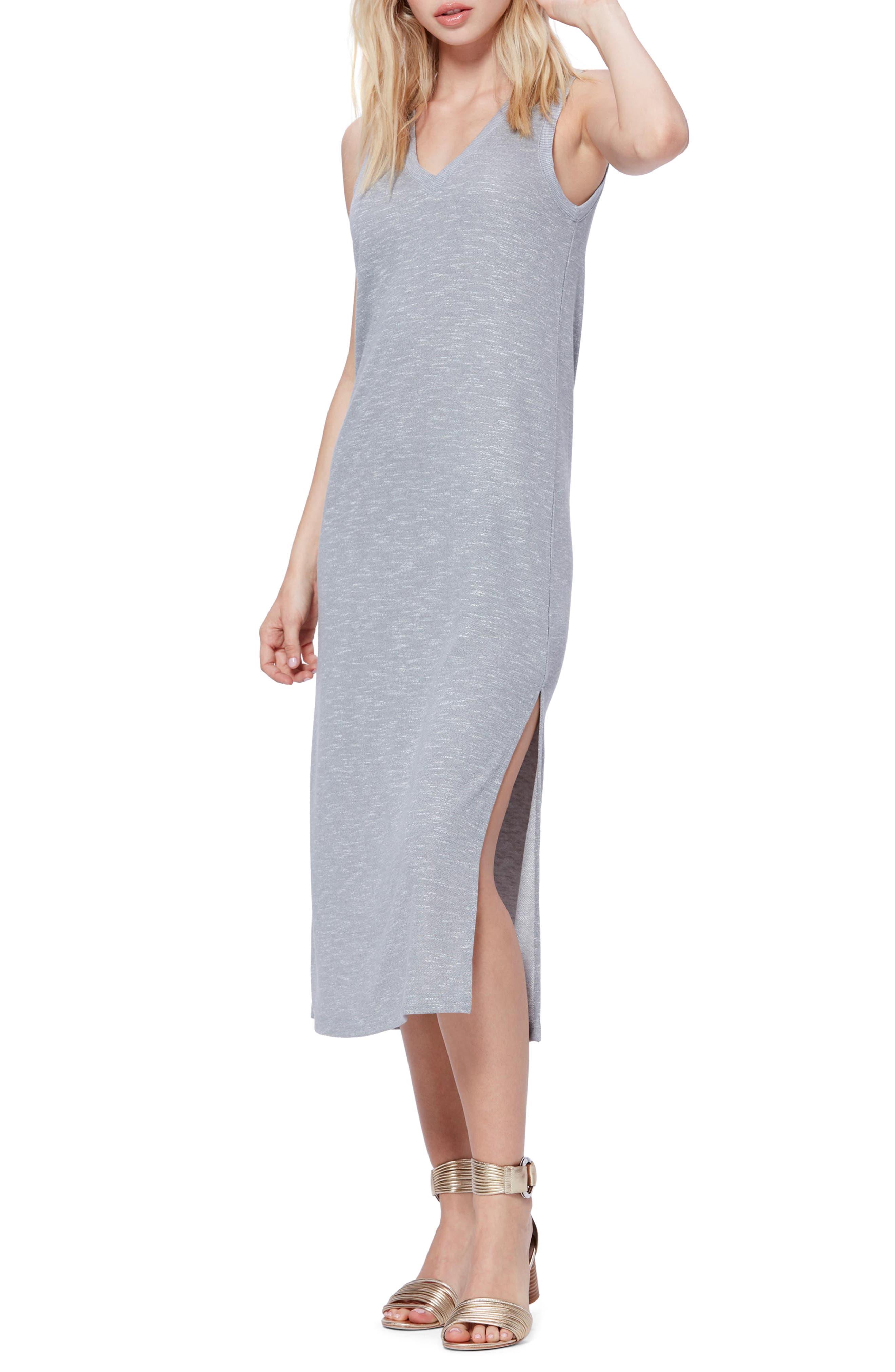 Paige Sage Midi Tank Dress, Grey