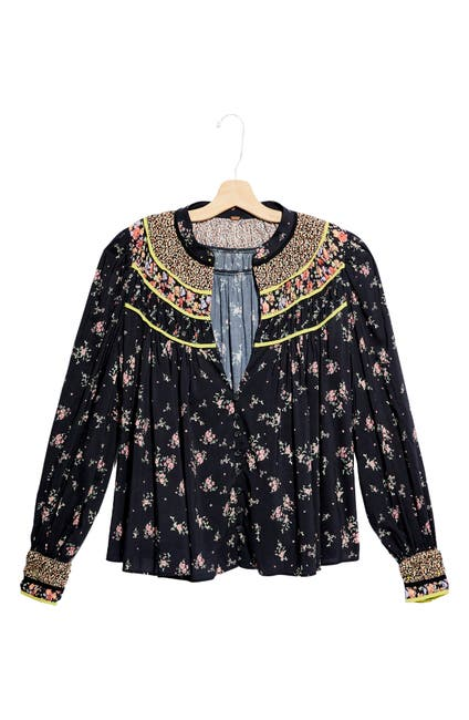 Image of Free People Paloma Printed Blouse