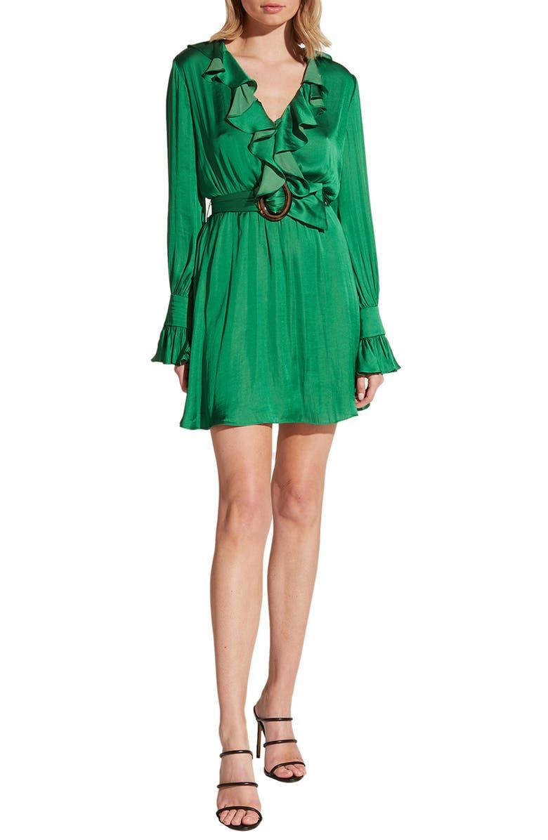 BARDOT Alanna Long Sleeve Minidress, Main, color, 355