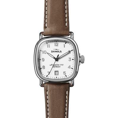 Shinola The Guardian Leather Strap Watch,