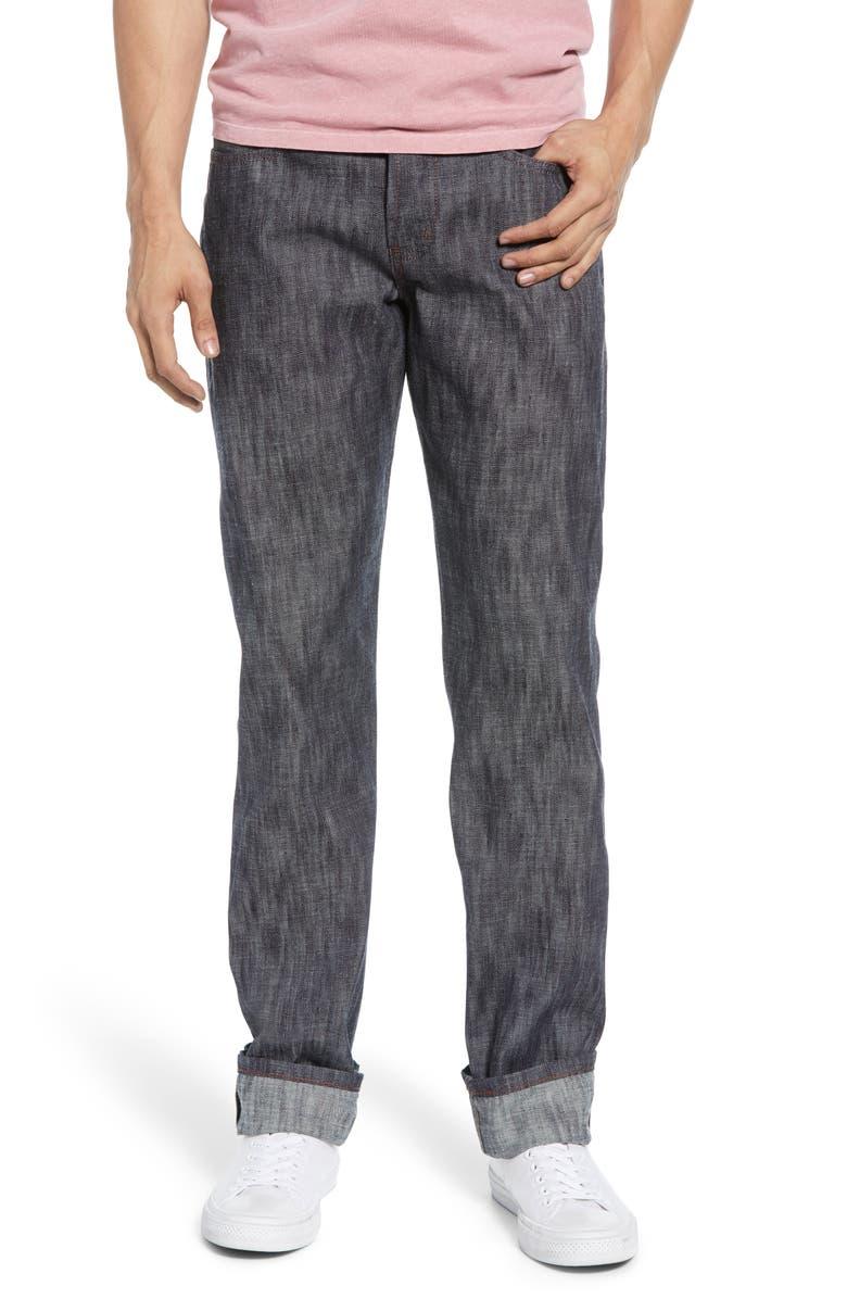 NAKED & FAMOUS DENIM Weird Guy Slim Fit Jeans, Main, color, SUMMER BREEZE SLUB SELVEDGE