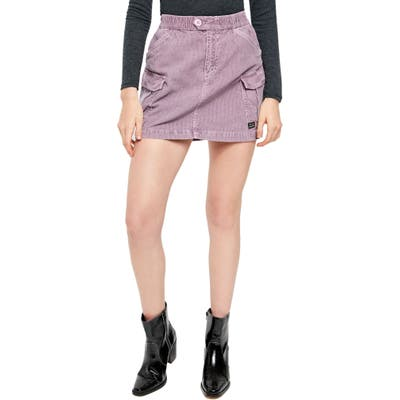Bdg Urban Outfitters Corduroy Utility Skirt, Purple