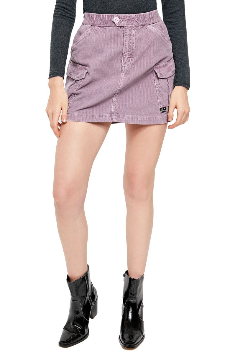 BDG Urban Outfitters Corduroy Utility Skirt, Main, color, LILAC
