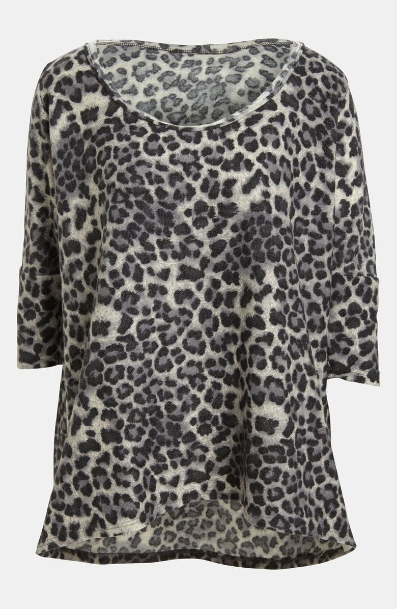 GO MAKE NOISE Cheetah Print Pullover, Main, color, 201