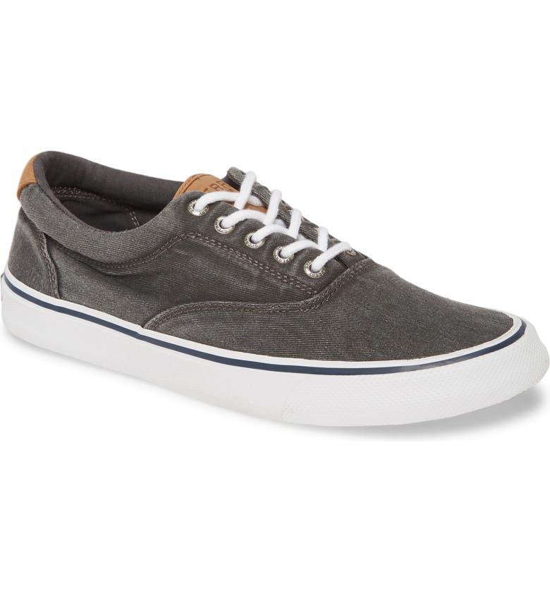 SPERRY Striper II CVO Core Sneaker, Main, color, SW BLACK CANVAS