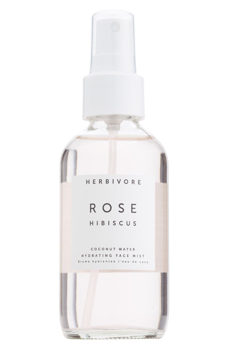 HERBIVORE BOTANICALS Rose Hibiscus Hydrating Face Mist, Main, color, NO COLOR