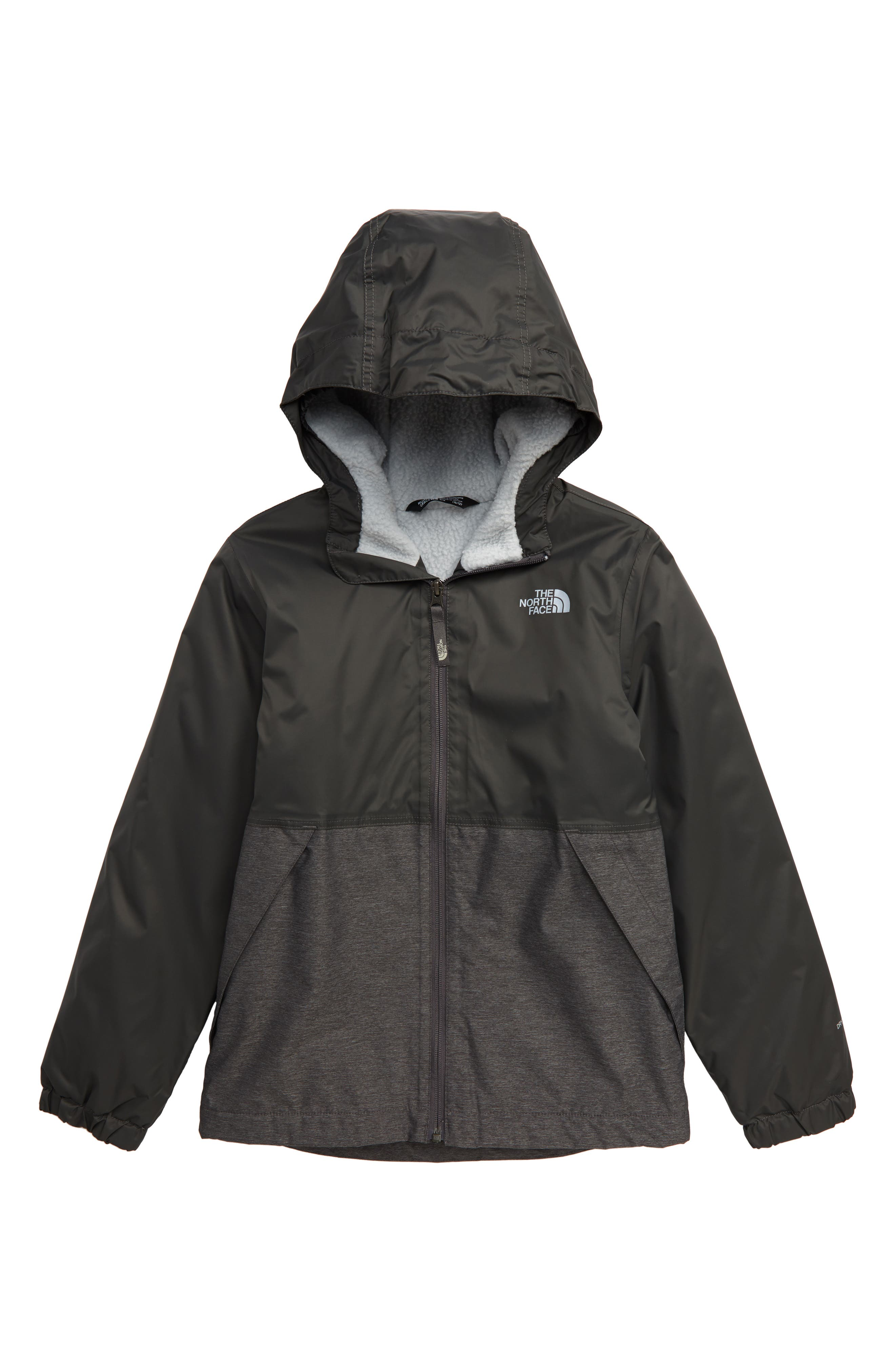 Boys The North Face Warm Storm Hooded Waterproof Jacket Size XL (1820)  Black