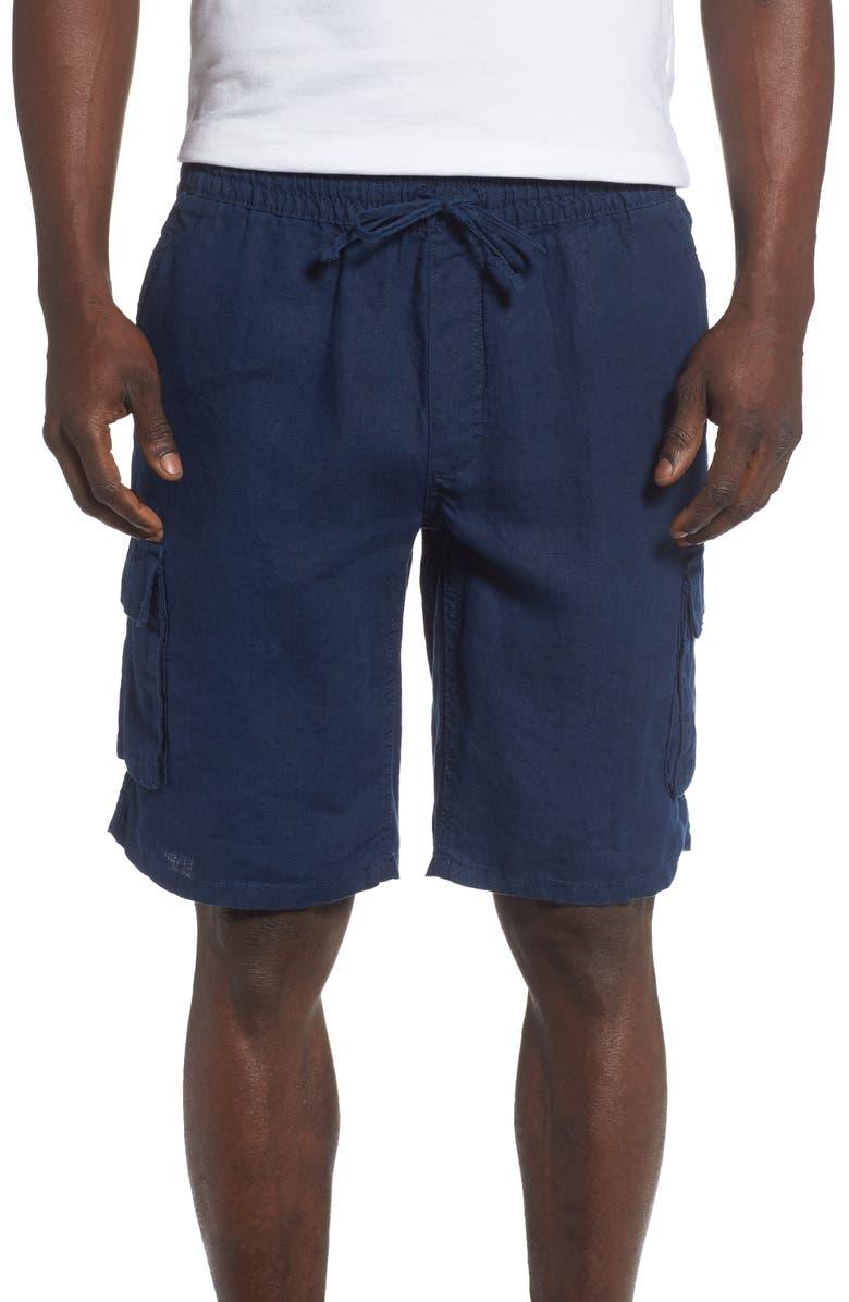 ONIA Linen Cargo Shorts, Main, color, 419
