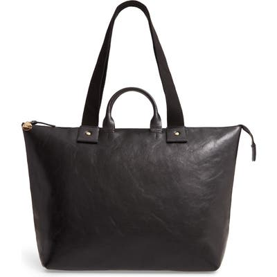 Clare V. Le Zip Sac Leather Tote - Black