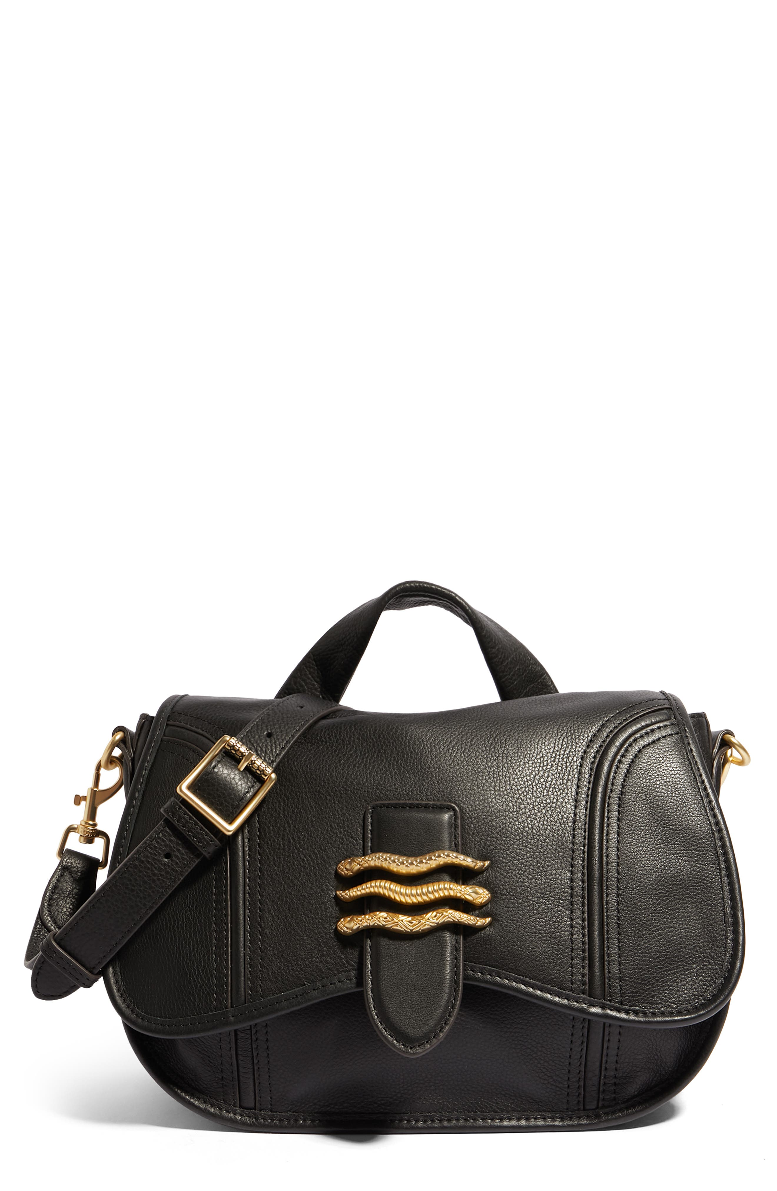 Fierce & Fab Leather Saddle Bag