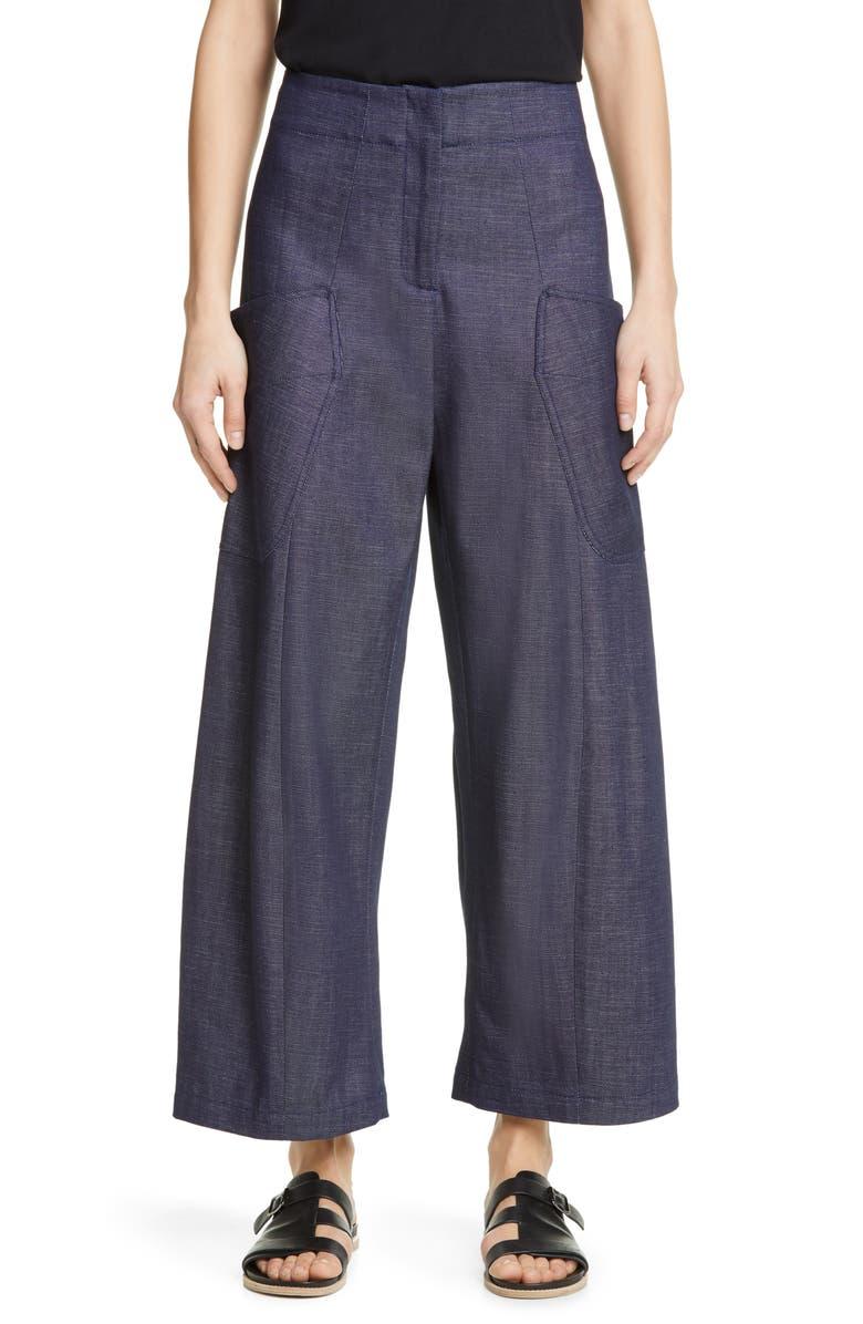 ZERO + MARIA CORNEJO Eda Curved Organic Cotton Denim Pants, Main, color, INDIGO