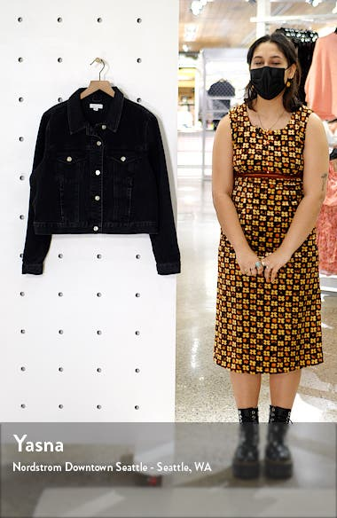 Tilda Washed Black Denim Jacket, sales video thumbnail