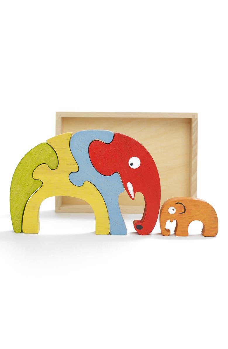 BEGINAGAIN TOYS Elephant Family Puzzle, Main, color, 700