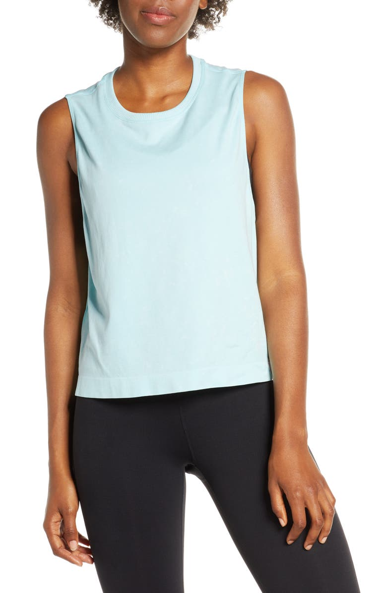 SOUL BY SOULCYCLE Seamless Crop Top, Main, color, ISLAND PARADISE