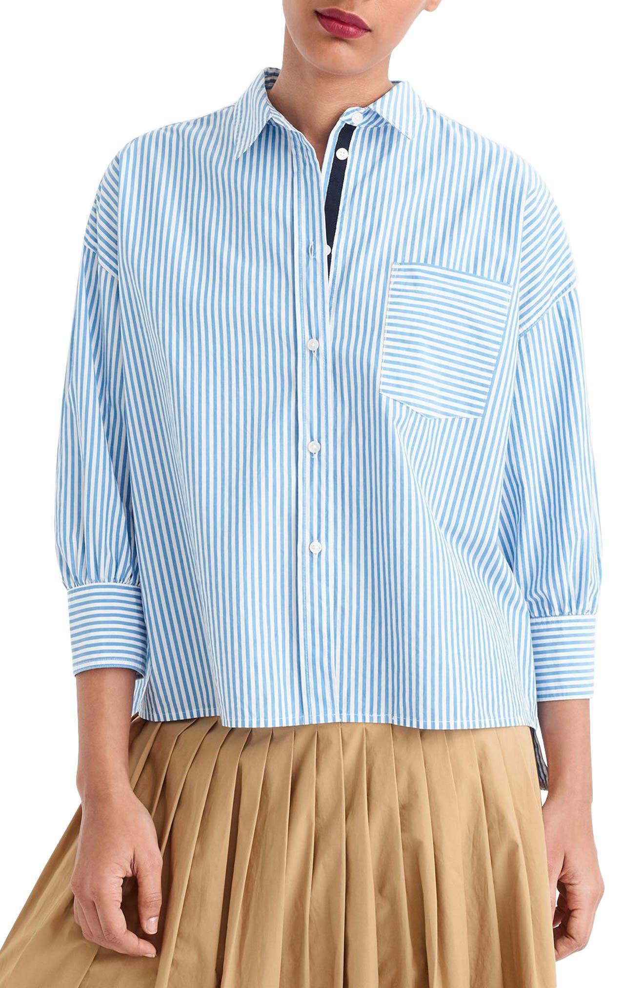Fieer Mens Casual Striped Oversize Juniors Button Down Shirt