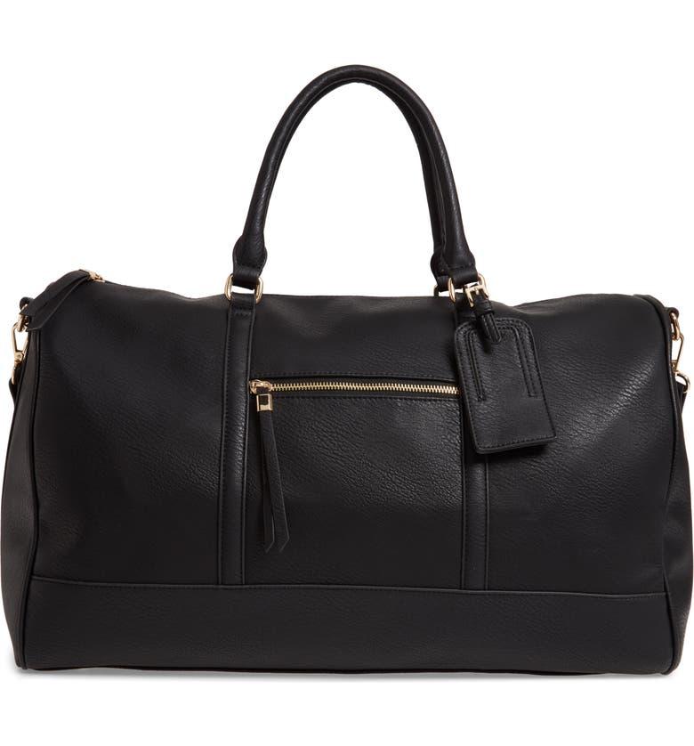 11baf8a471c6 Devon Faux Leather Weekend Duffle Bag