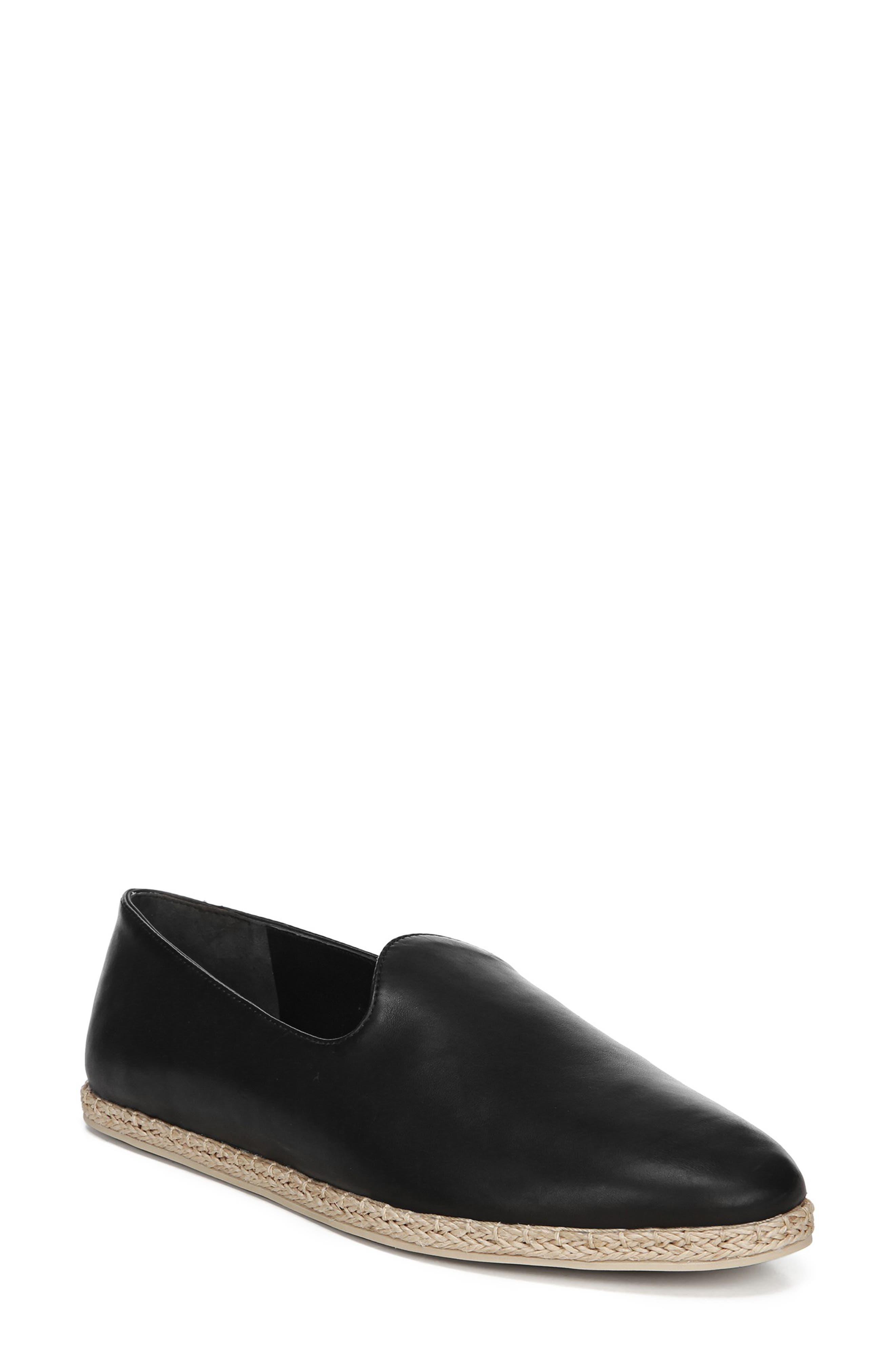 Malia Loafer Flat, Main, color, BLACK LEATHER