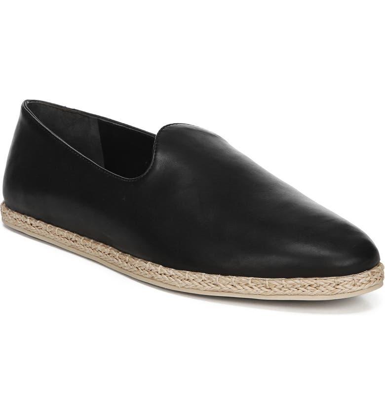 VINCE Malia Loafer Flat, Main, color, BLACK LEATHER
