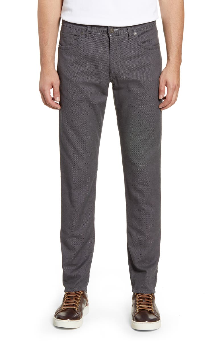 BRAX Two-Tone Five-Pocket Stretch Cotton Dress Pants, Main, color, GREY