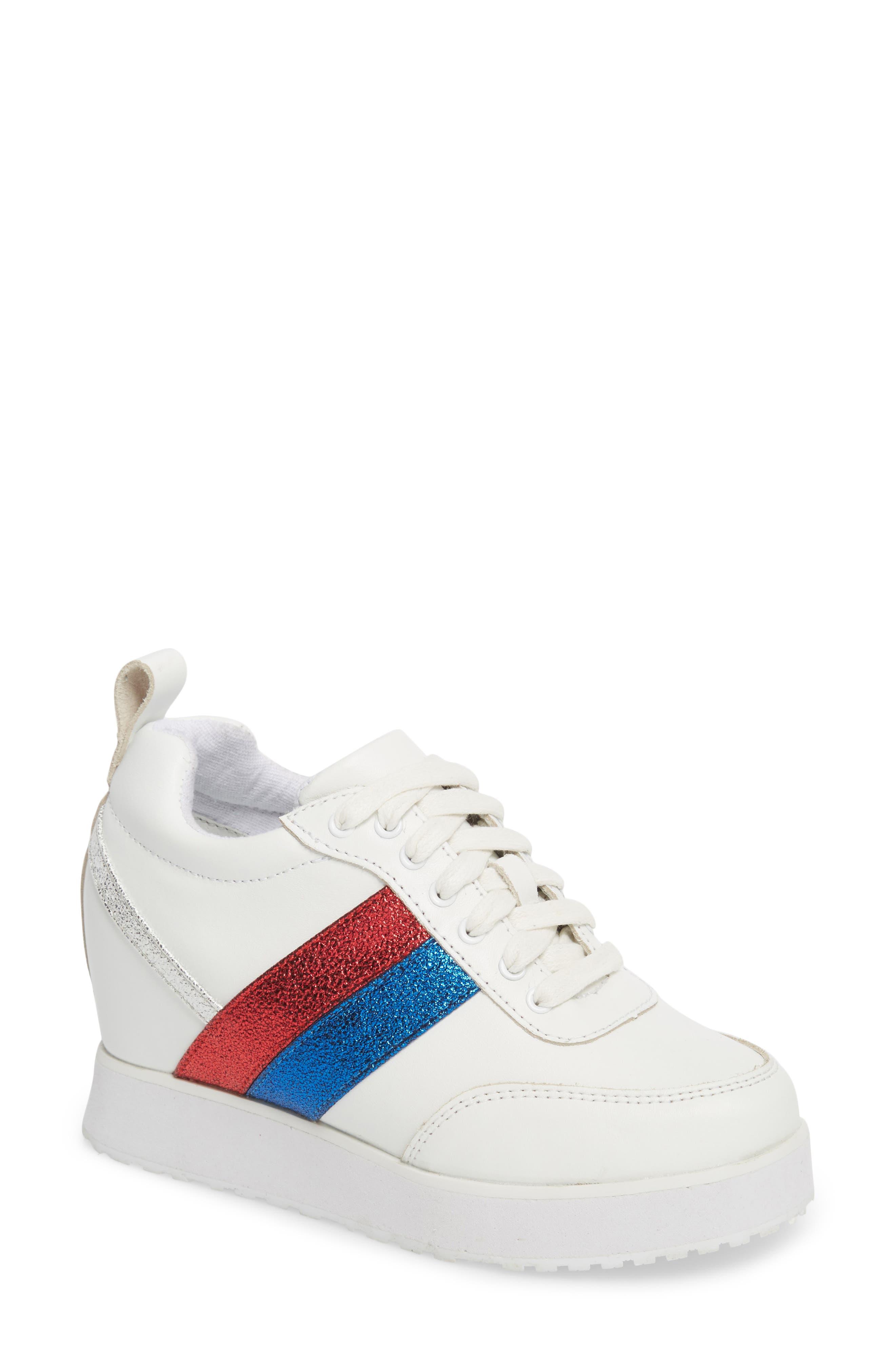 Very Volatile Sarita Hidden Wedge Sneaker- White