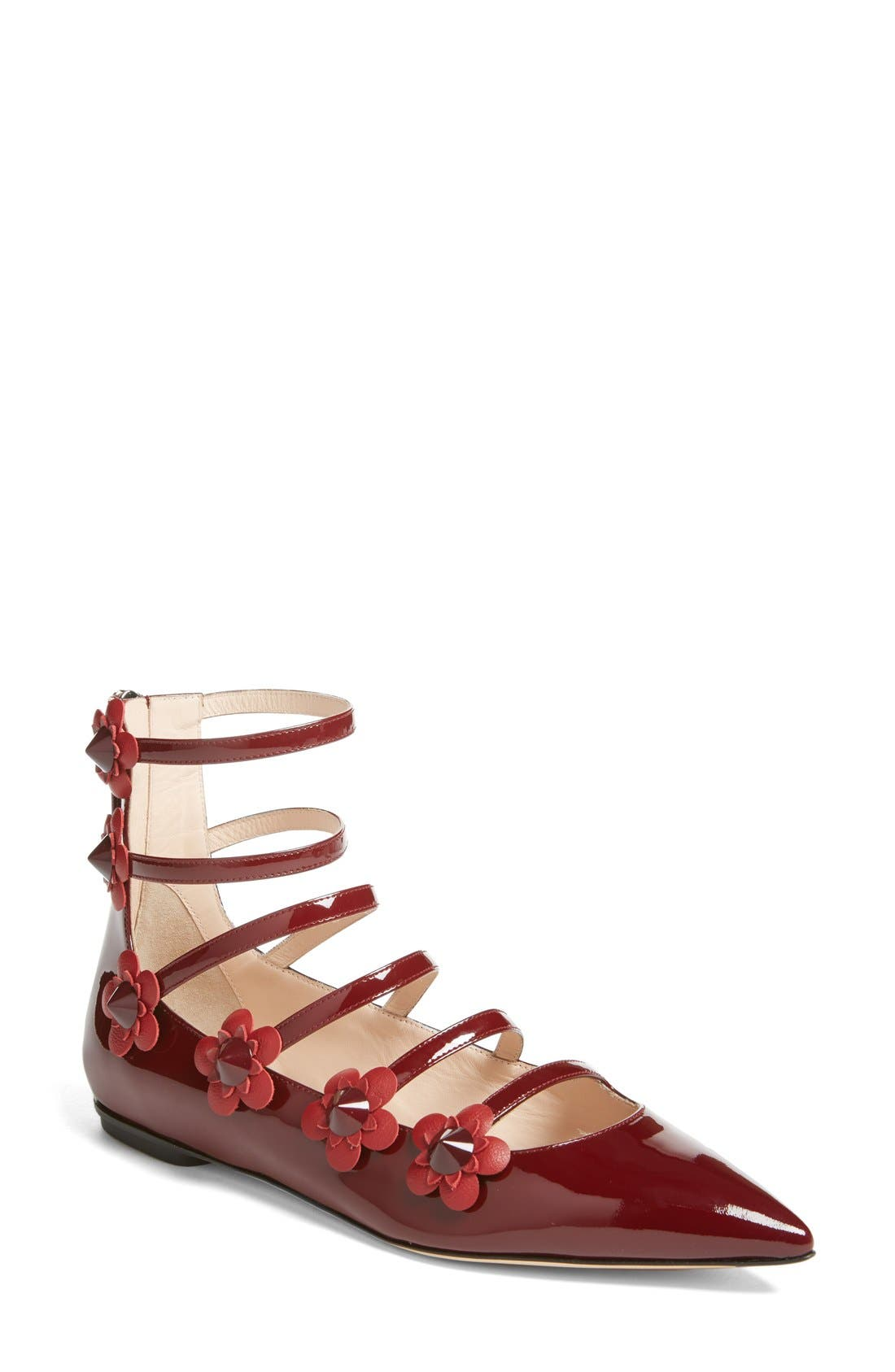 ,                             'Flowerland' Strappy Flat,                             Main thumbnail 9, color,                             601