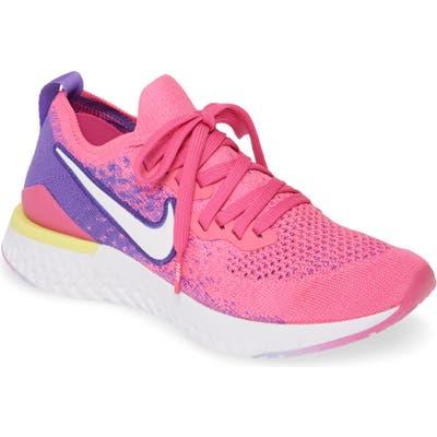 Nike Epic React Flyknit 2 Running Shoe, Pink