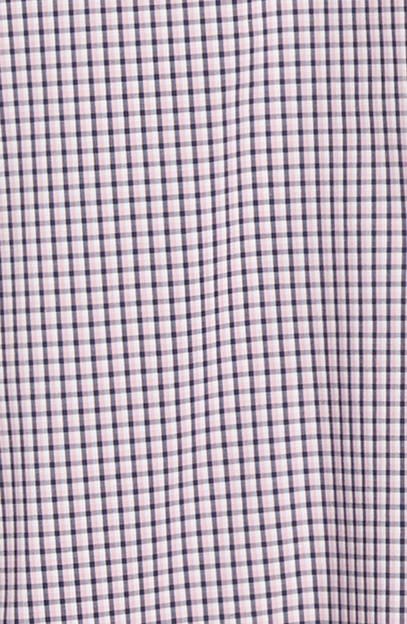 ,                             Tech-Smart Regular Fit Check Sport Shirt,                             Alternate thumbnail 6, color,                             NAVY MEDIEVAL PINK CHECK