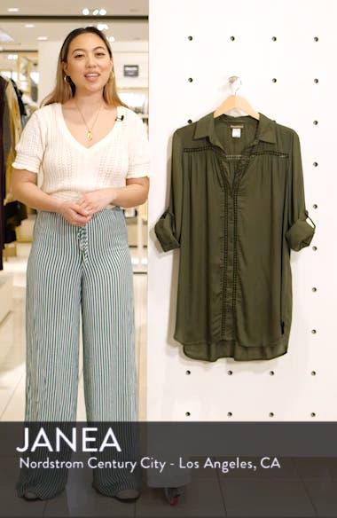 Crochet Boyfriend Shirt Cover-Up, sales video thumbnail
