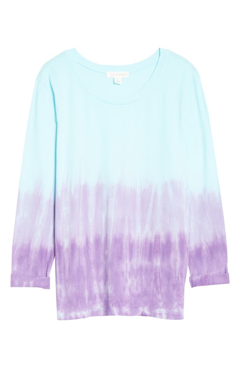 TREASURE & BOND Tie Dye Long Sleeve Shirt, Main, color, BLUE- PURPLE COMBO