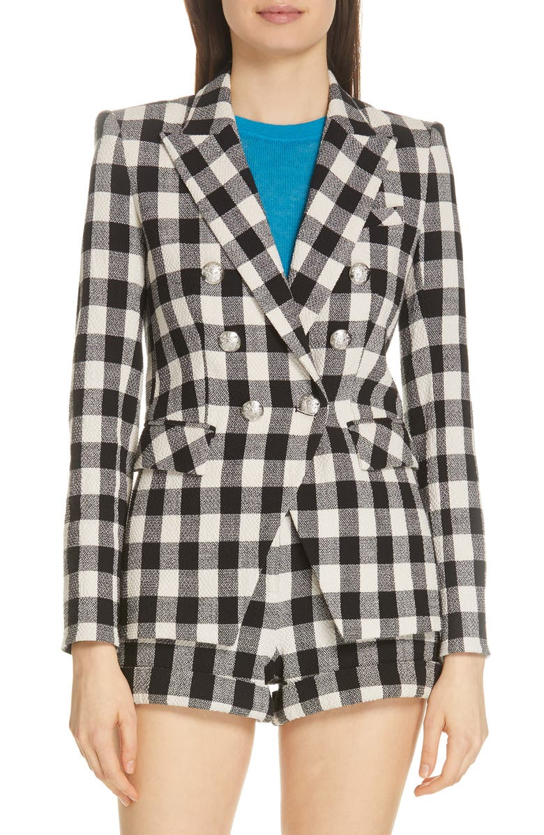 VERONICA BEARD Miller Gingham Dickey Jacket, Main, color, 001