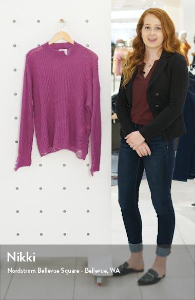 Mock Neck Open Stitch Sweater, sales video thumbnail