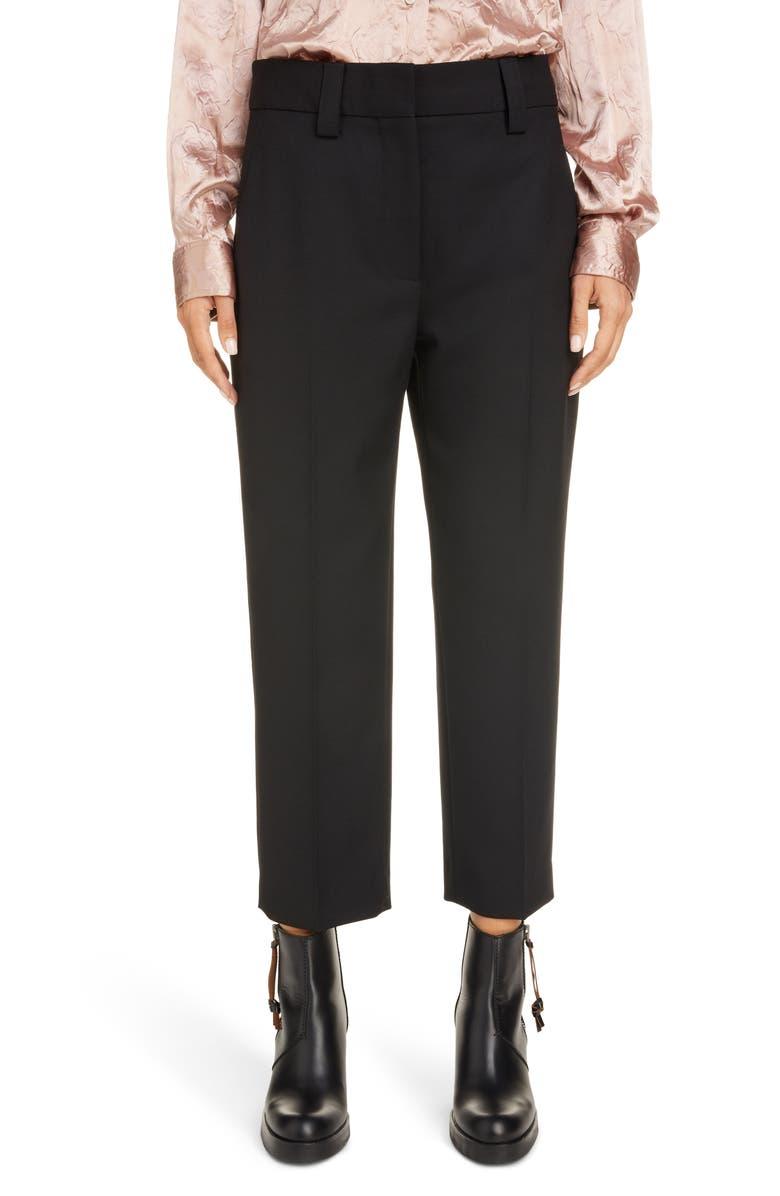 ACNE STUDIOS Str02 Crop Pants, Main, color, BLACK