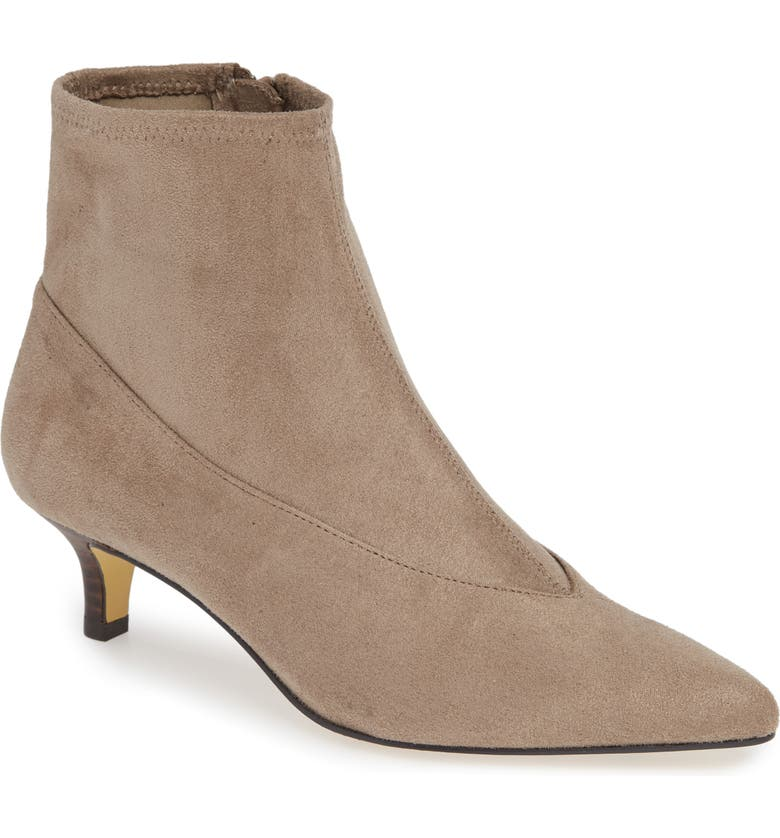 BELLA VITA Stephanie II Stretch Bootie, Main, color, STONE FAUX SUEDE