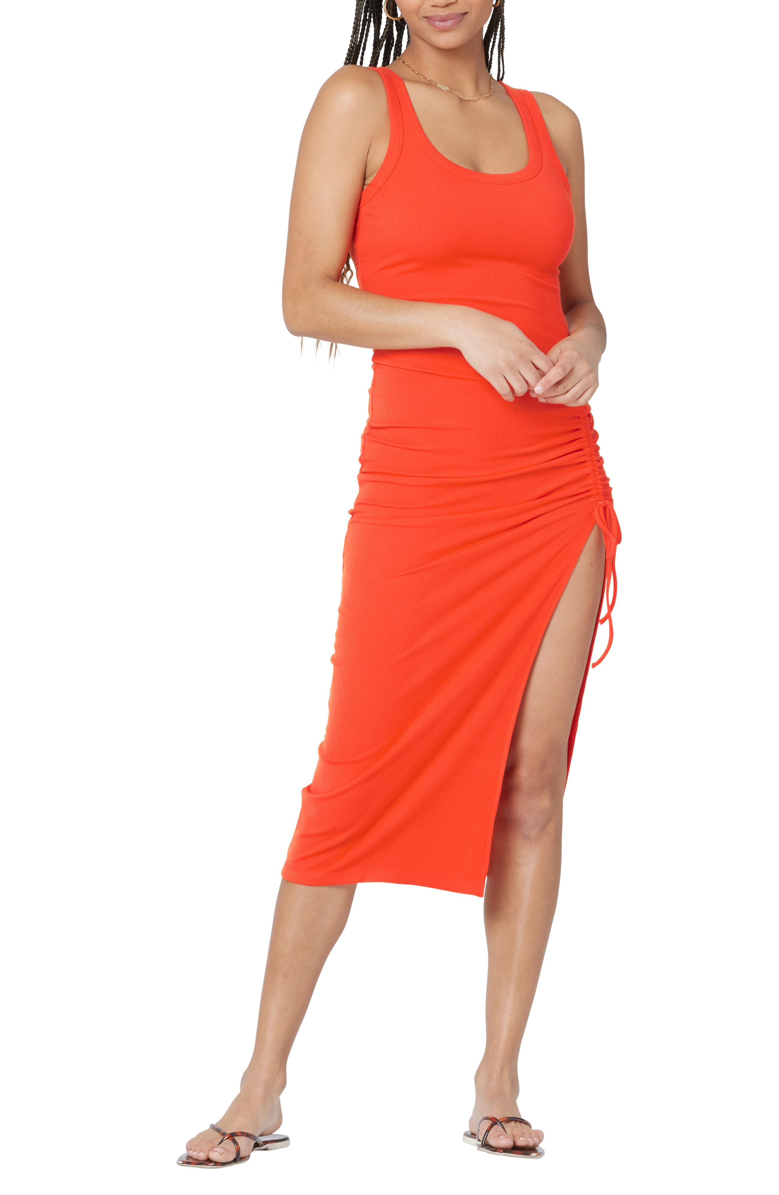 Women's L Space Sandpiper Ruched Rib Cover-Up Dress