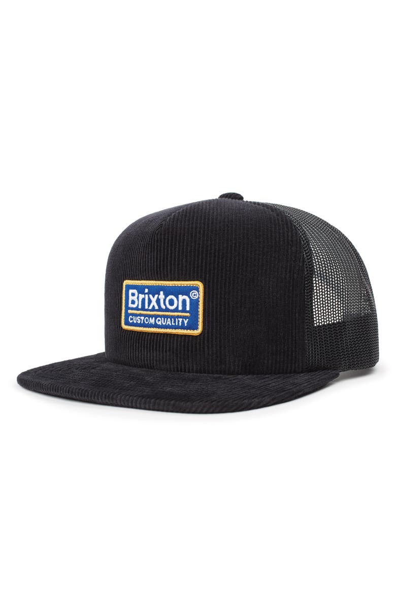BRIXTON Palmer Trucker Hat, Main, color, BLACK CORD
